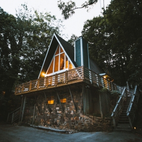 Gatlinburg A-frame Cabin Rental Moody Cabin Girl