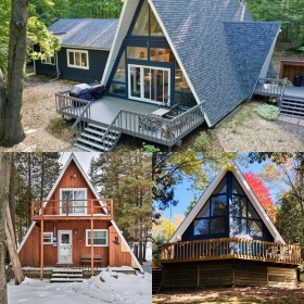 Best Homeaway A-frame Rentals in Michigan